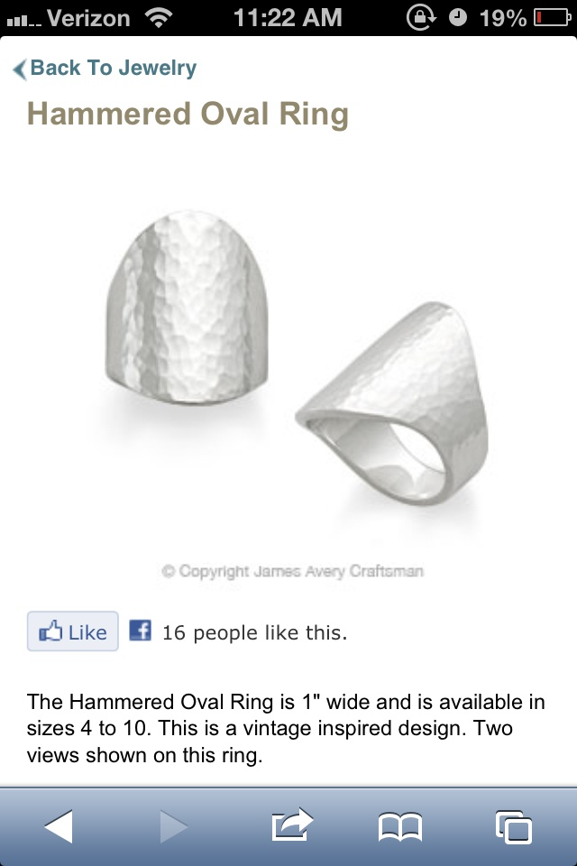 james avery ring  99 size 4