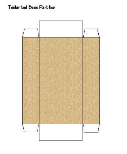 Maqueta de una Cama Recortable de una cam