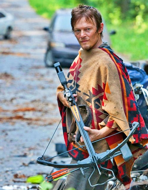 DARYL DIXON'S PONCHO - Or what seems to be one that looks like it | Clothing | Use: Daryl Effect...it's also an outer garment to keep the body warm & dry | Sold By: PaisleyPurveyorToo by Joyce Strohl Pickens | Country: USA | Damage: USD 30.00 | #poncho #DarylDixon #TheWalkingDead