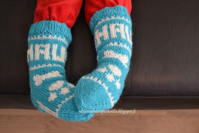 Satunnaisesti puikoilla: Ryhmä Hau-sukat taaperolle