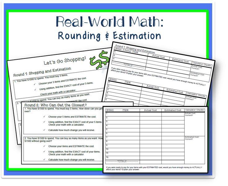 125 best Maths - Rounding \ Estimation images on Pinterest Math - estimate request form