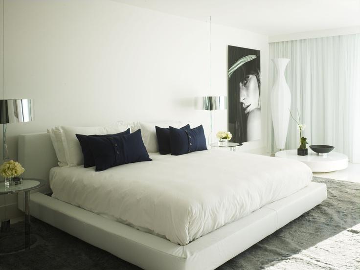 Mondrian Hotel Miami  Photography by Michael Mundy Mondrian Hotel Miami    Photography by Michael Mundy #MorganHotelGroup #white #trafficnyc #MondrainMiami #bedroom #moderninteriors