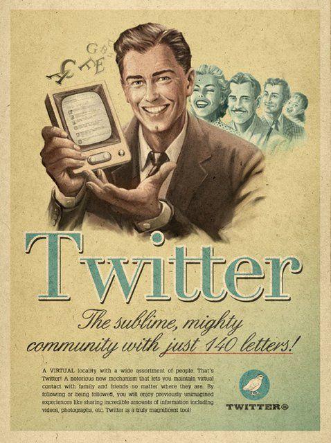 retro future ad for twitter