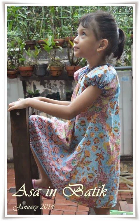 Asa in Batik - peasant dress