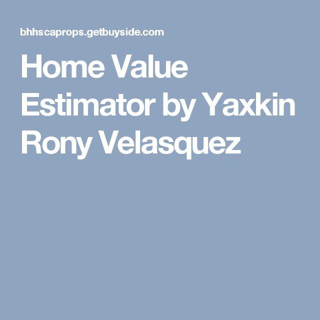 Home Value Estimator by Yaxkin Rony Velasquez