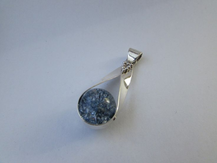 Marble Pendant marble + sterling silver