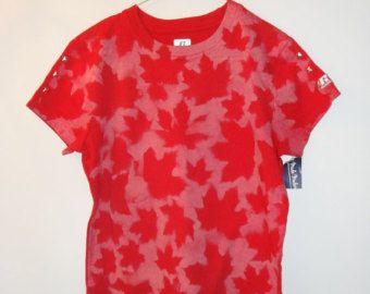 Canadian maple leaf Women Large tie dye t-shirt.