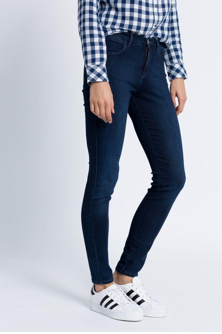 Jeans Jeans  - Wrangler - Jeansi High Skinny True Dark Baza