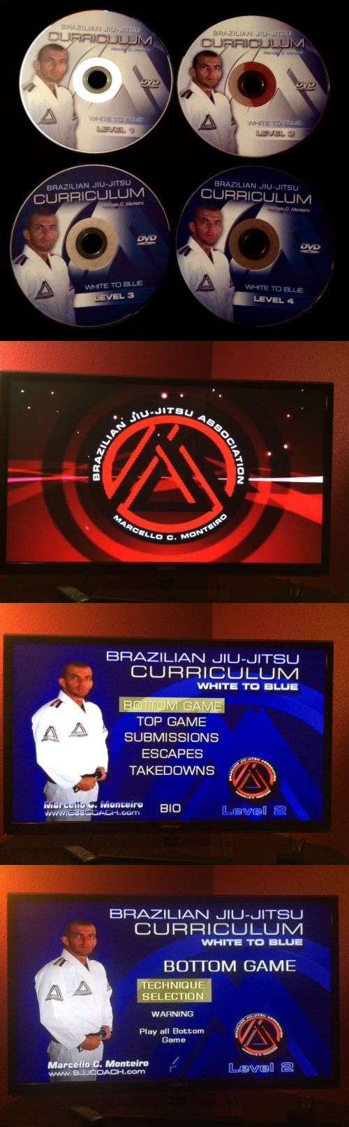DVDs Videos and Books 73991: Brazilian Jiu Jitsu Dvd Curriculum - White To Blue Belt BUY IT NOW ONLY: $235.0
