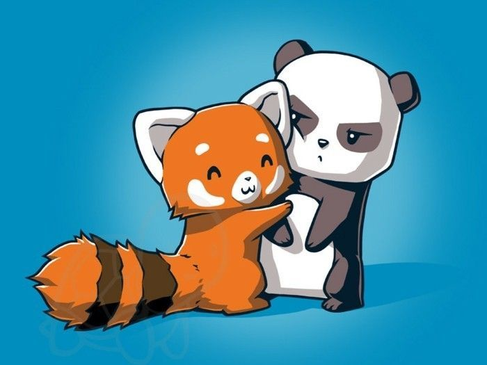 Red Pandas Chibi Mammals In 2020 Cute Animal Drawings Panda Drawing Chibi Cat