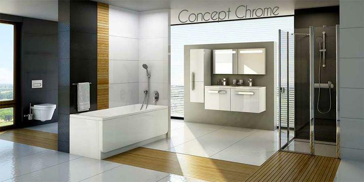 HOME - Un petit aperçu d'une salle de bains Chrome
