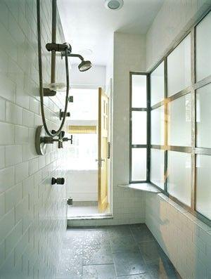 Walk through shower by EleandMac