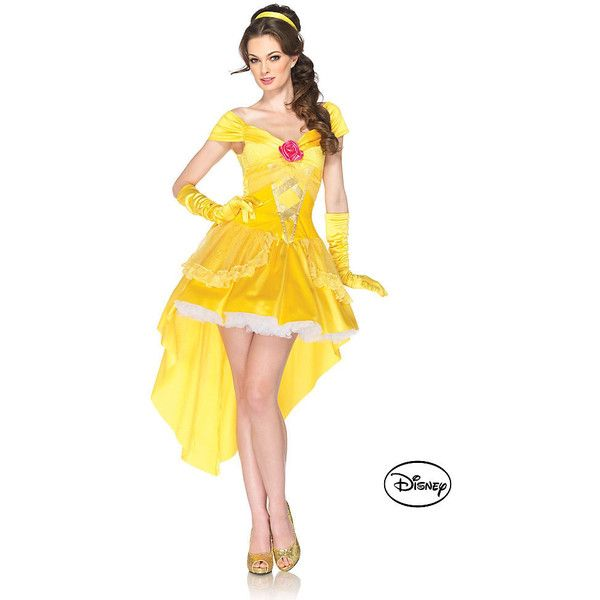 Beauty and the Beast's Adult Belle Disney Costume ($80) ❤ liked on Polyvore featuring costumes, halloween costumes, multicolor, adult halloween costumes, womens halloween costumes, womens princess costume, womens snow white costume and princess halloween costumes