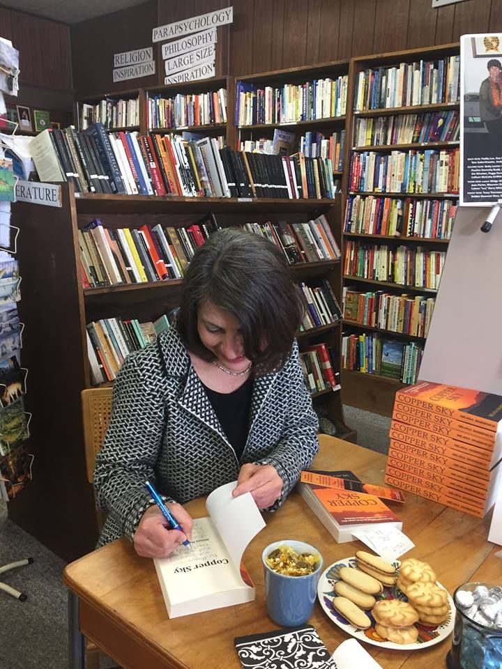 On Saturday Milana Marsenich signed copies of her debut novel Copper Sky at Books & Books in #Butte, #Montana. Learn more about the novel at http://tinyurl.com/mglkquo