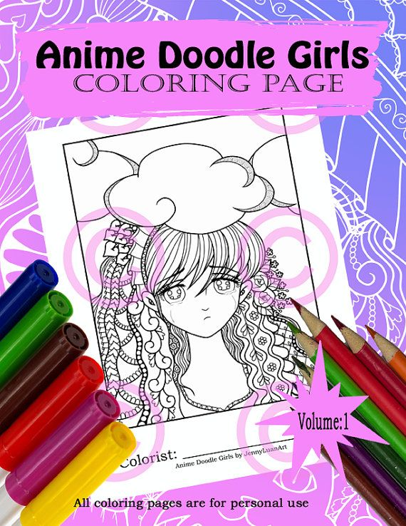 Rain Sad Crying Face Anime Manga Zendoodle Tangle Coloring Page for adult coloring