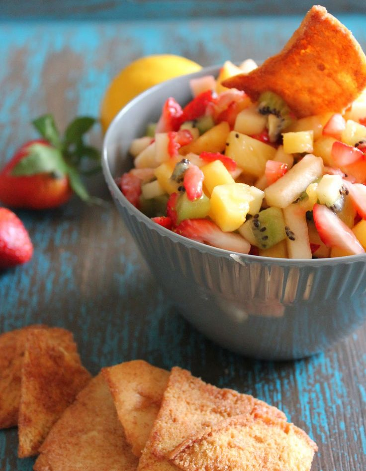 Fresh Fruit Salsa by Yumology.com. SO EASY! The perfect take-along for ...