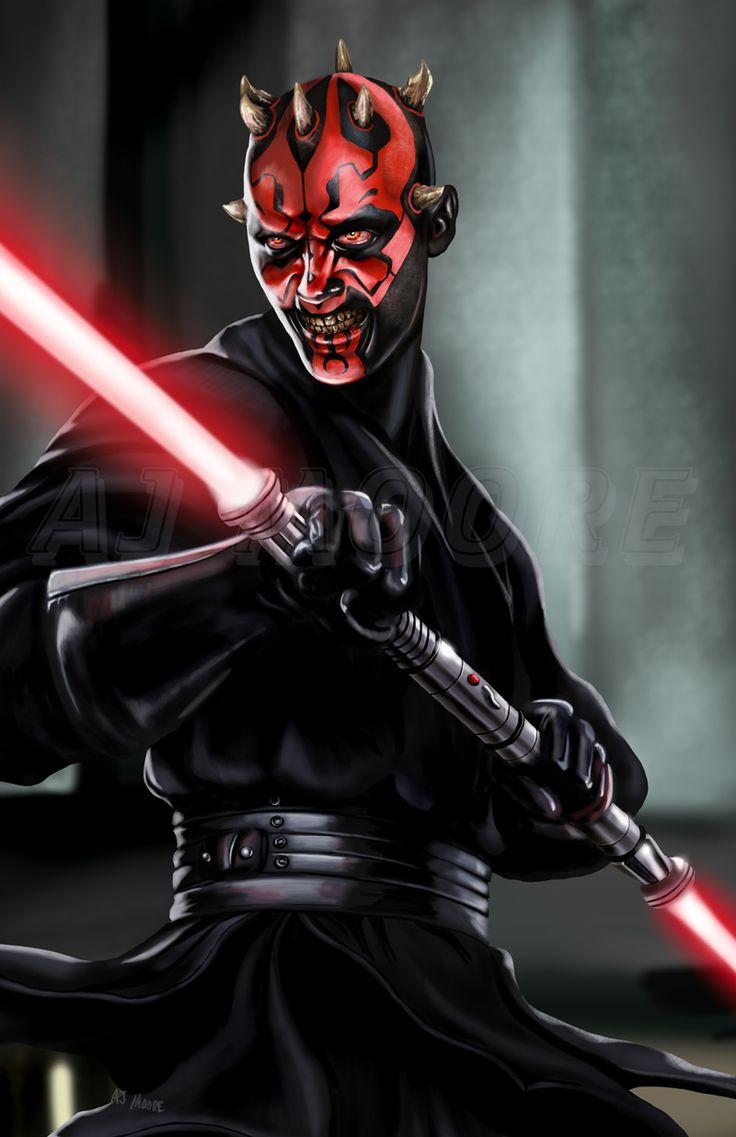 Typical bad ass Sith 'Fan Art' of Darth Maul.