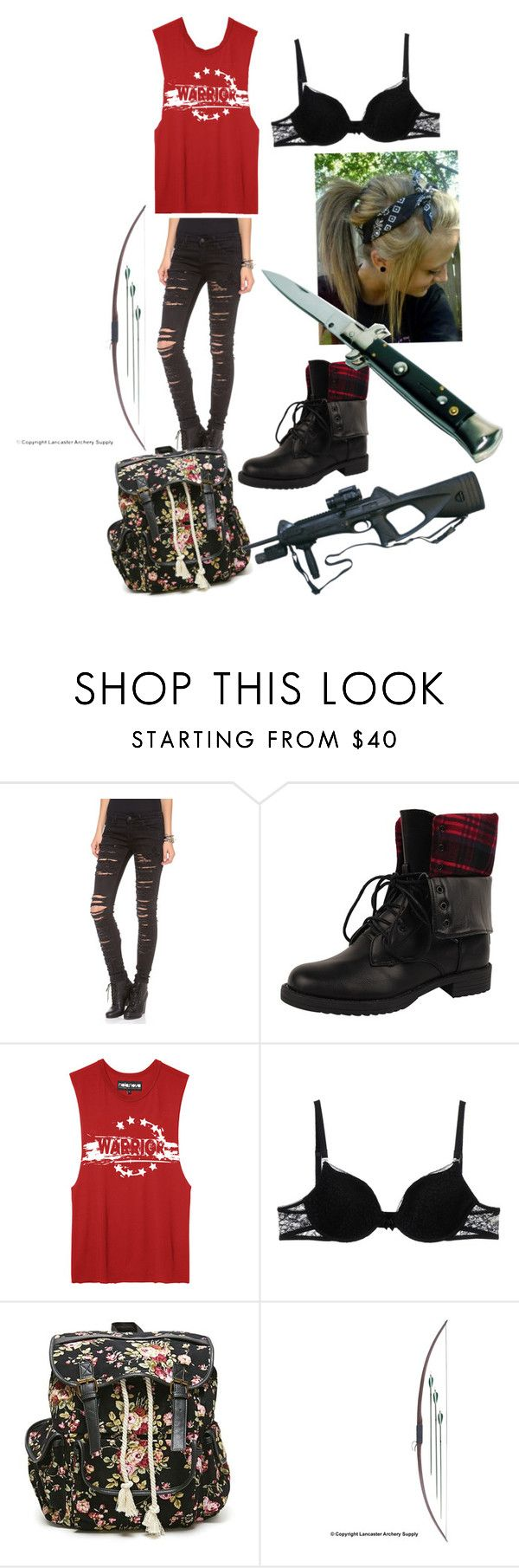 """""""Zombie apocalypse #1"""" by rachael-rose13 ❤ liked on Polyvore featuring Blank Denim, Dollhouse, Ermanno Scervino Lingerie and LA: Hearts"""