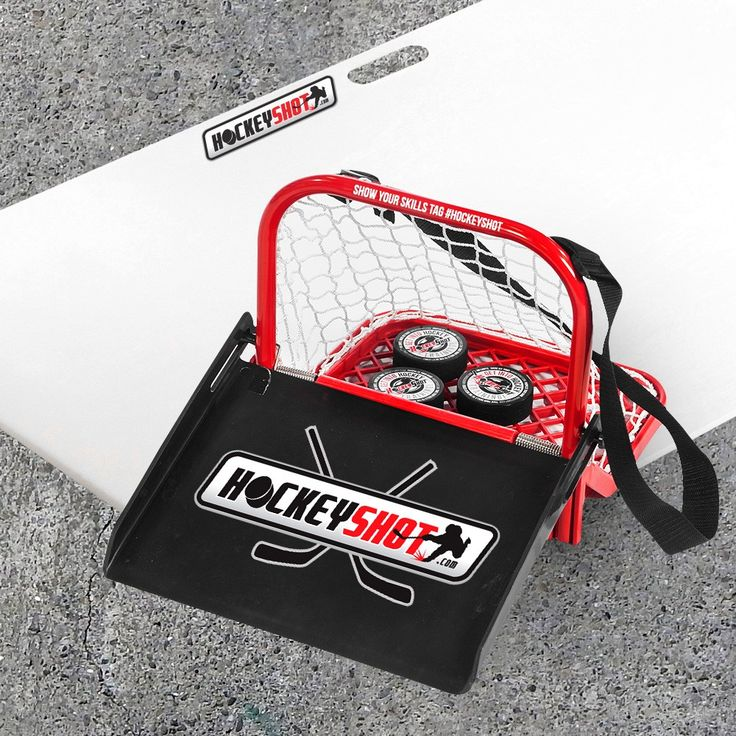 It's simple, HockeyShot has combined three training aids: Puck Catcher Pro, Junior HS Shooting Pad, and Hockey Pucks into one fun game for everyone to enjoy!
