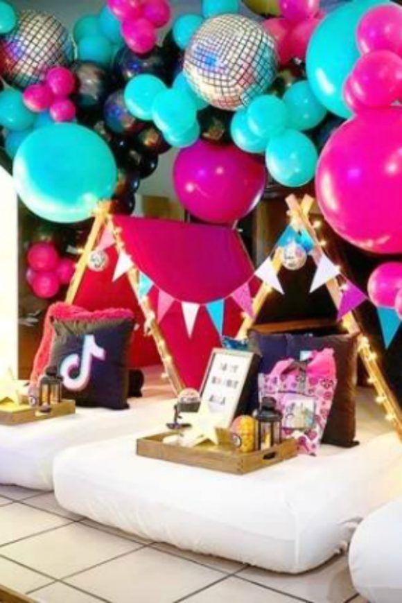 Tik Tok Sleepover Birthday Party Set Sleepover Birthday Parties Flamingo Birthday Party