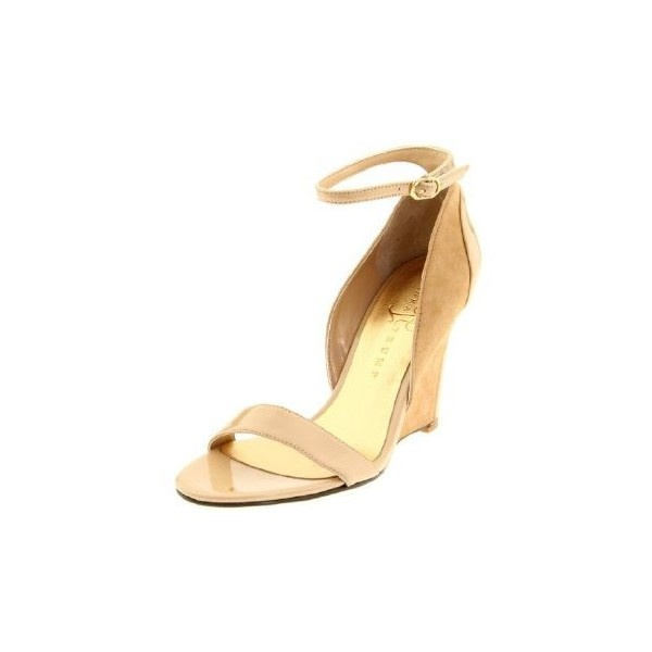 Ivanka Trump Womens Bindy Ankle-Strap Sandal ($130) found on Polyvore