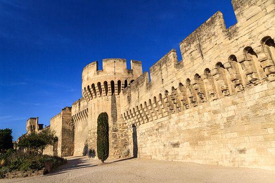 Avignon est l'une des rares villes françaises à avoir conservé l'intégralité de ses anciens remparts. Battis dès le Ier siècle, ils seront modernisés au fur et à mesure des siècles. Au XIVe siècle ces murailles, longues de 4 kilomètres, sont flanquées de 39 tours et percées de 7 portes principales reparties tout autour de la vieille ville.