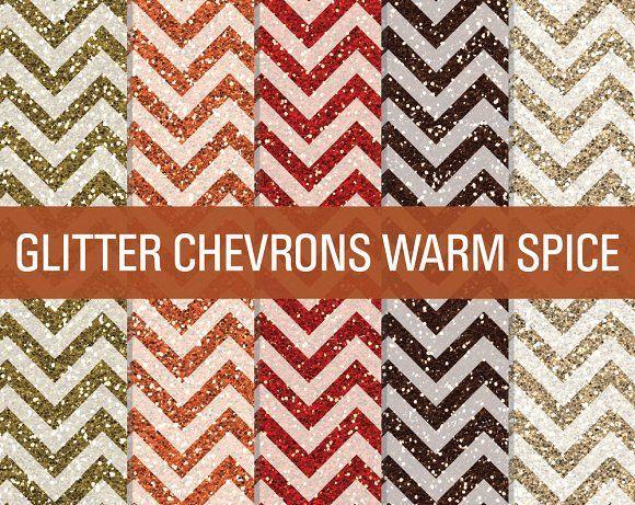 Glitter Chevron Textures Warm Spice by SonyaDeHart on @creativemarket