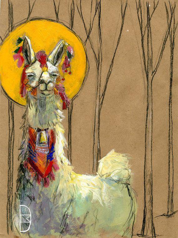 21 Best Images About Llama Love On Pinterest Watercolour