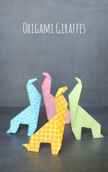 Origami For Kids: Make an Easy Origami Giraffe #kids #crafts