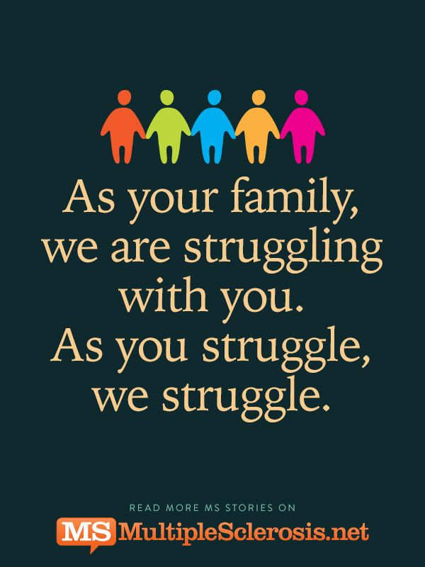 As your family, we are struggling with you. As you struggle, we struggle