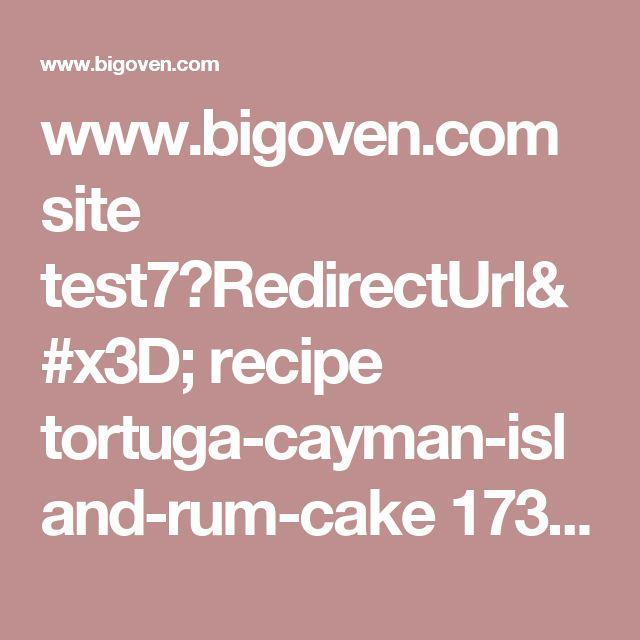 Island rum cake recipe