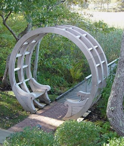 Garden Bench Ideas 52 different garden bench plans for the mister Find This Pin And More On Outdoor Ideas Designs Garden Pass Through Bench