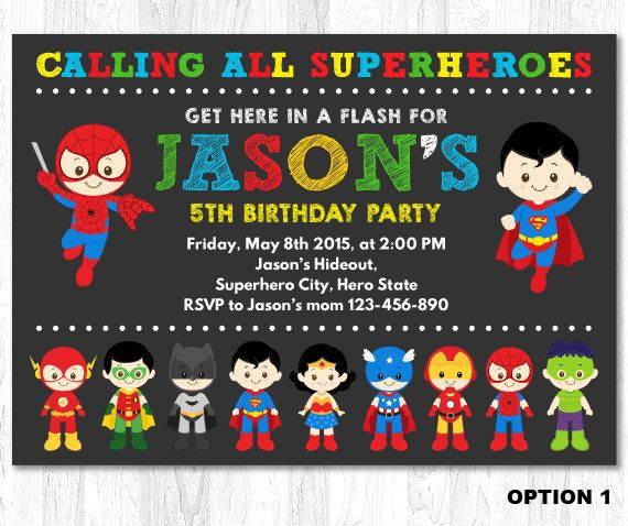 Superhero Birthday Invitation, Superhero Boy Invitation, Superhero Invitation, Superhero Invite