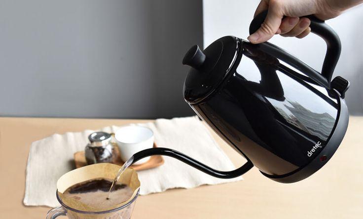 【楽天市場】ドリップカフェケトル ステンレス ケトル 1.0L 注ぎやすい細口ケトル[送料無料]ドリップカフェケトル|電気ポット|おしゃれ|かわいい|簡単|カフェケトル|ドリップ|細口|珈琲|紅茶|coffee:swailife