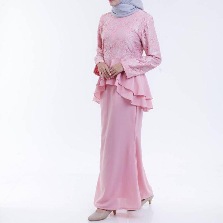 Kebaya Kombinasi Tile Rok Polos Tfs Bahan Jatuh Dipake Pre Order 4 5