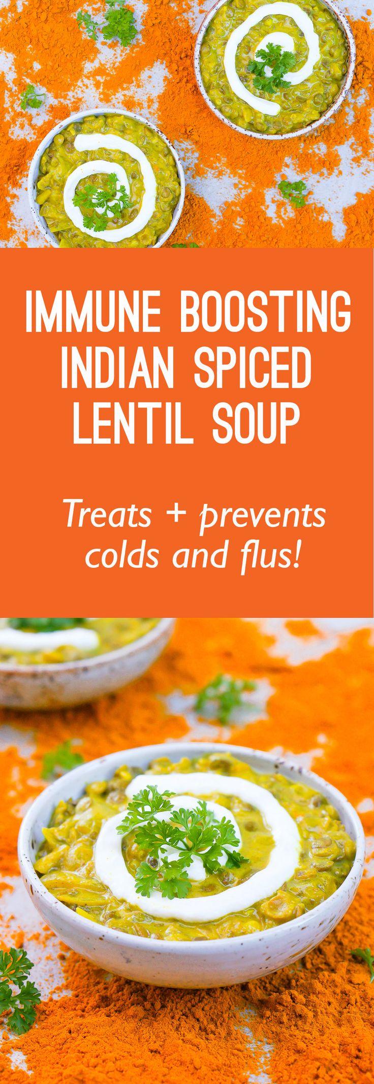 Super Easy, Super Quick Immune Boosting Lentil Soup Recipe (Vegan, Gluten Free)