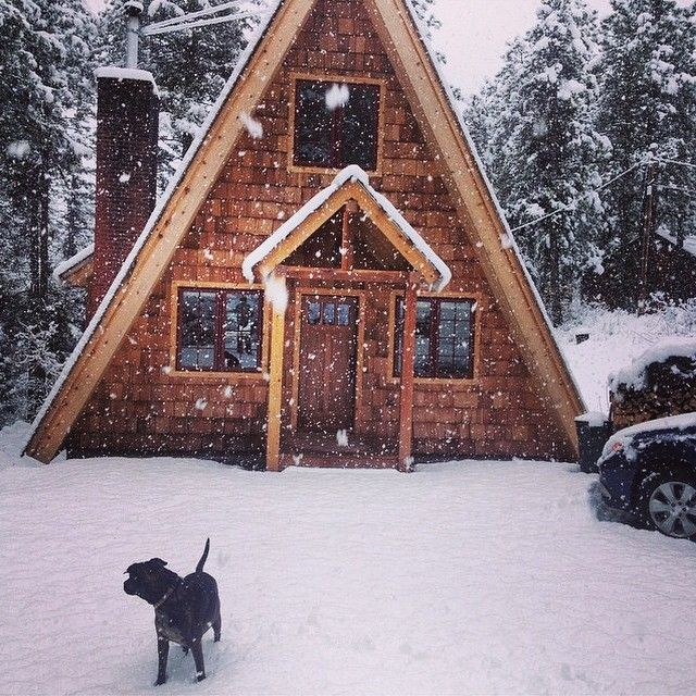 Best 25 a frame cabin ideas on pinterest a frame house for Winter cabin plans