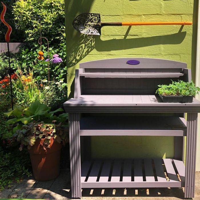 Cedar Rectangular Potting Bench Brown Suncast Outdoor Garden Bench Potting Bench Garden Bench