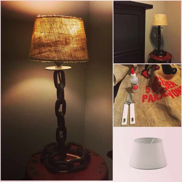 Aan de ketting! #DIY, #lampenkap, #jute, #lamp, #lampshade, #doehetzelf, #wonen,#vtwonen, #home, #doityourself, #industrial, #decoration, #sinterklaas, #chain
