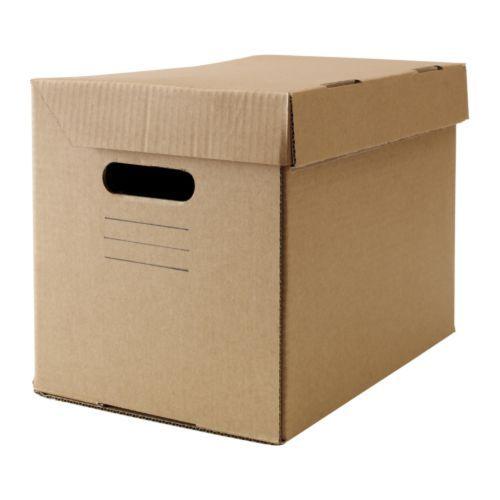 IKEA - PAPPIS, Boîte avec couvercle, Conçu pour le classement au format A4.