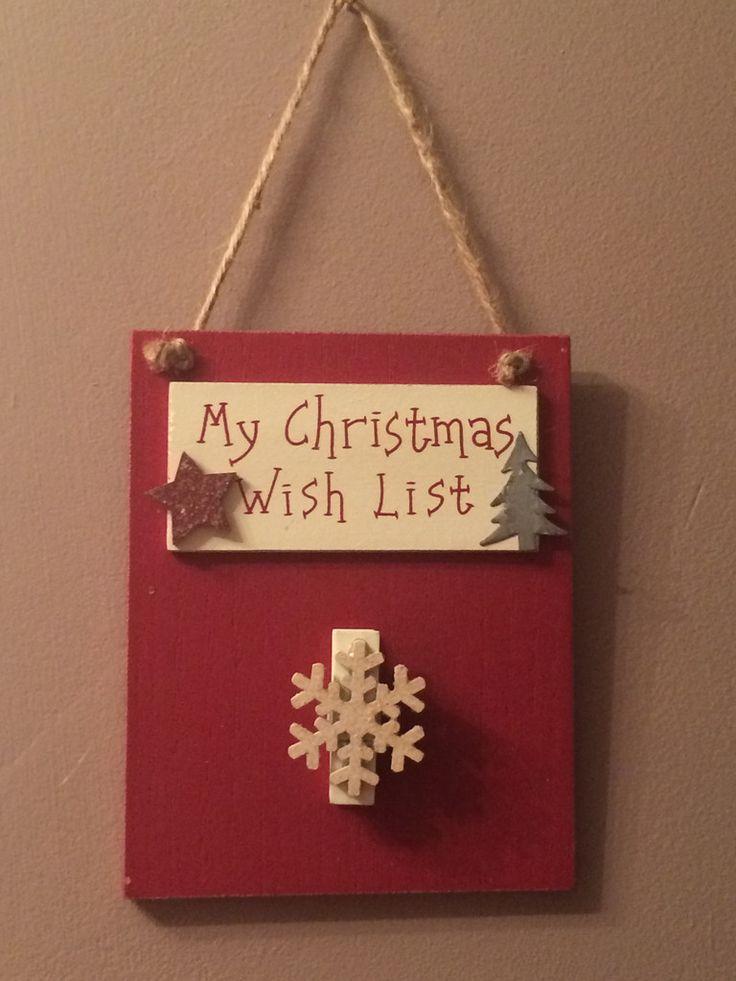My Christmas Wish List Plaque