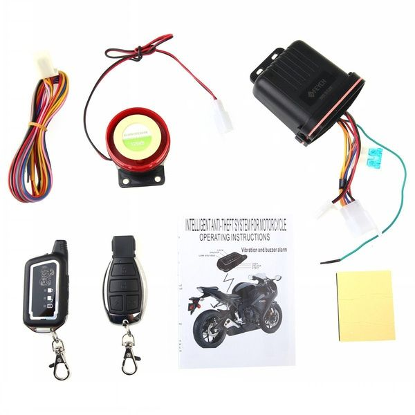 Motorcycle Anti Theft Security Alarm 2 Ways System Bike Remote