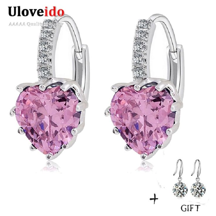 Find More Drop Earrings Information about Long Crystal Earrings for Women Fashionable Pink Stone Hanging Earings Gifts for Christmas the New Year Bague Femme 2016 BME131,High Quality earrings basketball,China earring name Suppliers, Cheap earrings model from Uloveido Official Store on Aliexpress.com