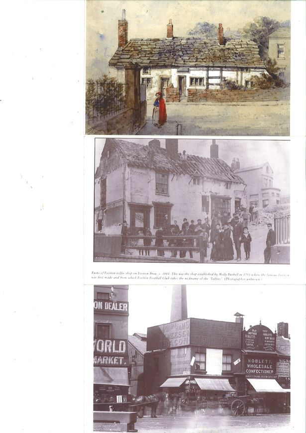 Images of Everton's famous Toffee Shop
