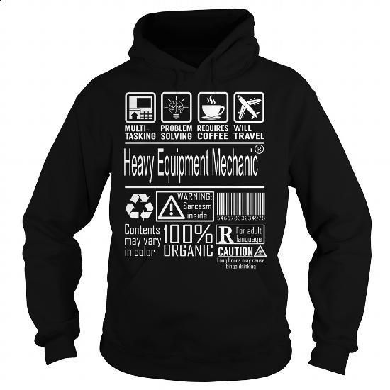 Heavy Equipment Mechanic Job Title - Multitasking #fashion #style. ORDER NOW => https://www.sunfrog.com/Jobs/Heavy-Equipment-Mechanic-Job-Title--Multitasking-Black-Hoodie.html?60505