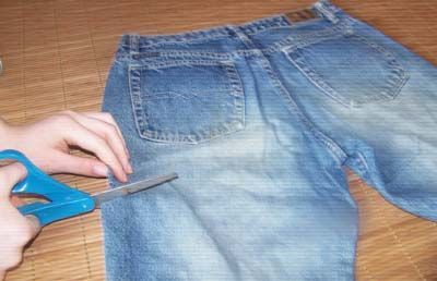 5 Steps to Make a Purse out of Jeans: Cut the Jeans to Purse Size