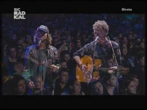 Glen Hansard + Eddie Vedder 8/23/12 Portugal (TV Broadcast) Drive All Night w/ Feels Like Rain
