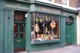 Cornelissens shop, London. Best art supply shop in the world and the inspiration for Olivanders Wands in Harry Potter.
