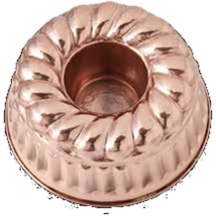 Stampo per BUDINO in rame martellato Ø21xh13 cm - Litri 1,80 | CuArtigiana | Stilcasa.Net: stampi per dolci e ghiaccioli