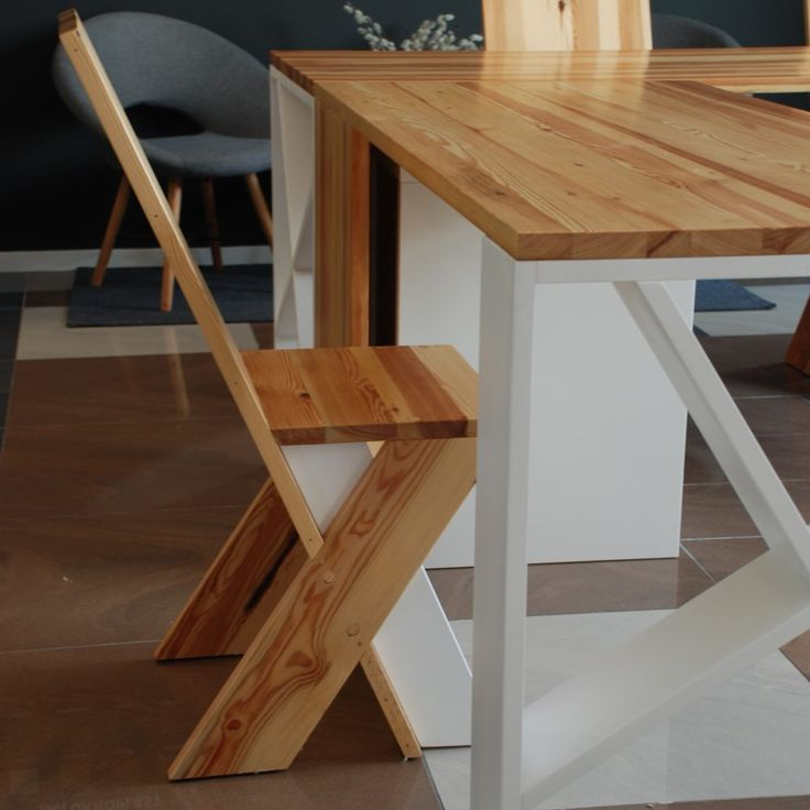 furniture, modern chairs from old wooden boards